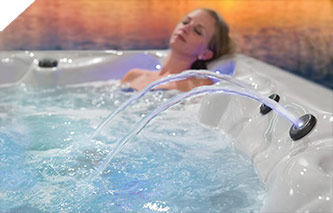 Led lights set the mood for a relaxing hot tub experience