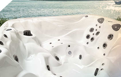 Sleek ergonomic design is visually apparent on all Master Spas Hot Tubs
