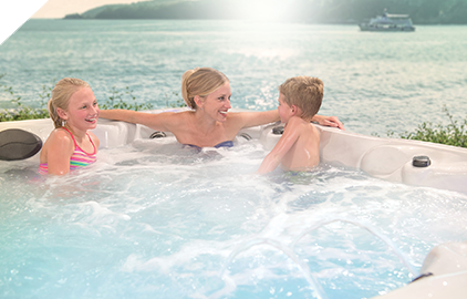 Enjoy quality time with your family in a Healthy Living Hot Tub by Master Spas