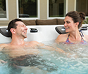 Enjoy your hot tub on your patio with family