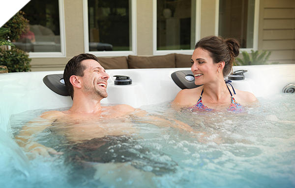 Reduce stress in a hot tub
