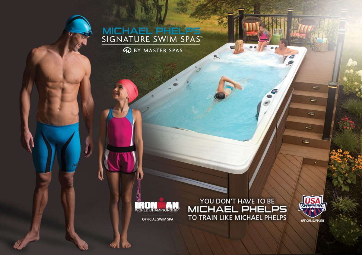 Michael Phelps Signature Swim Spas by Master Spas. You don't have to be Michael Phelps to train like Michael Phelps.
