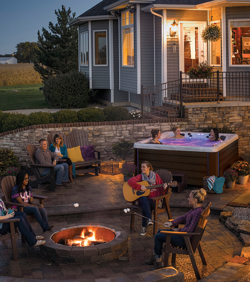 A hot tub helps create the perfect outdoor space for entertaining