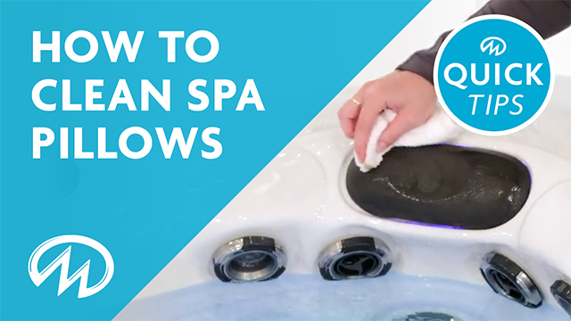 How to clean hot tub pillows