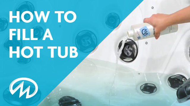 How to fill a master spas hot tub