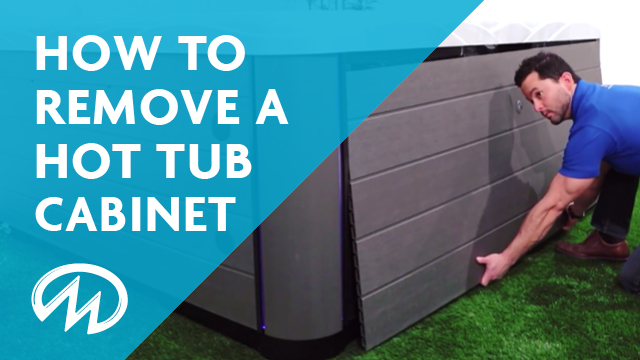 How to remove the outside cabinet of your hot tub